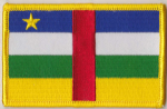 Central African Republic Embroidered Flag Patch, style 08.